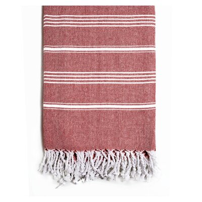 Rowsey Classic Woven Traditional Peshtemal Bath Towel Color: Burgundy