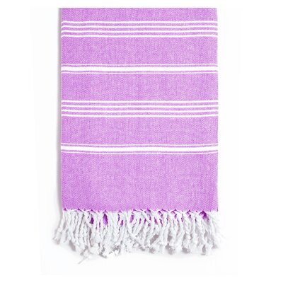 Rowsey Classic Woven Traditional Peshtemal Bath Towel Color: Purple