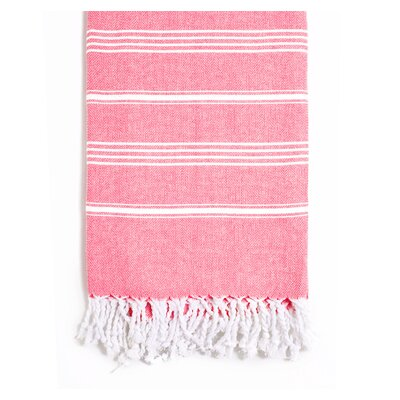 Rowsey Classic Woven Traditional Peshtemal Bath Towel Color: Red
