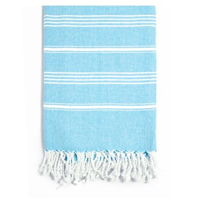 Rowsey Classic Woven Traditional Peshtemal Bath Towel Color: Turquoise