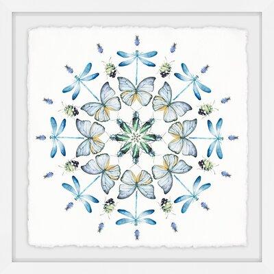 'Blue Bug Circles' Framed Print 2454C90DEE604F5C86E841986EBF2F3E