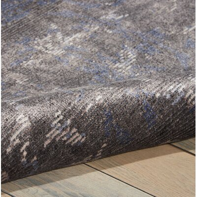 Culbreth Hand-Knotted Coal Area Rug Rug Size: Runner 23 x 8
