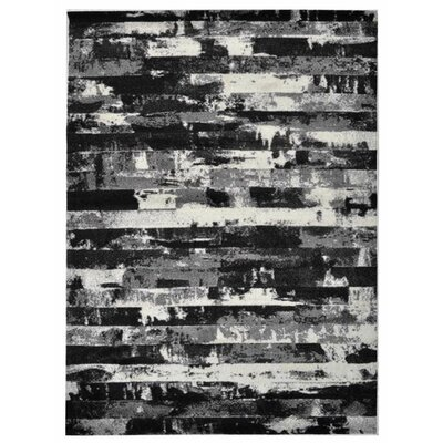 Haveman Silver/Black Area Rug Rug Size: Rectangle 8 x 10