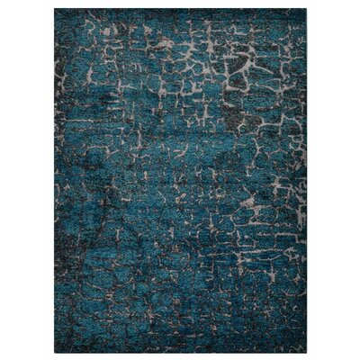 Costales Blue Area Rug Rug Size: Rectangle 8 x 10