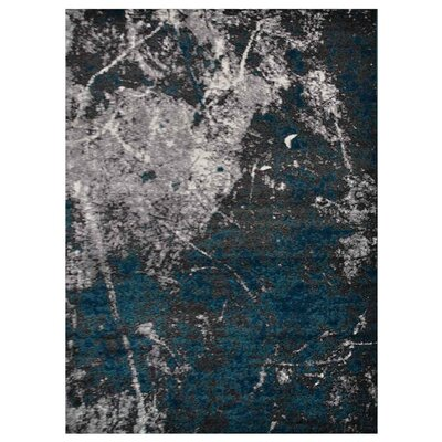 Costales Silver/Blue Area Rug Rug Size: Rectangle 4 x 6