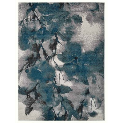 Henricks Ivory/Blue Area Rug Rug Size: Rectangle 67 x 9