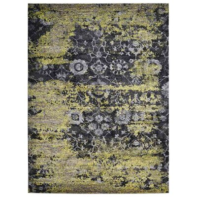 Costales Green/Black Area Rug Rug Size: Rectangle 8 x 10