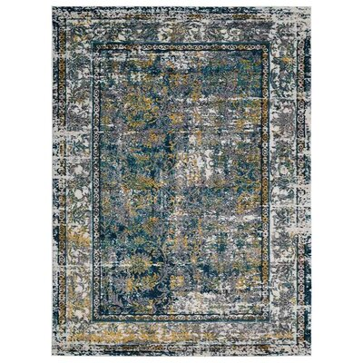 Claverton Silver/Gray Area Rug Rug Size: Rectangle 4 x 6