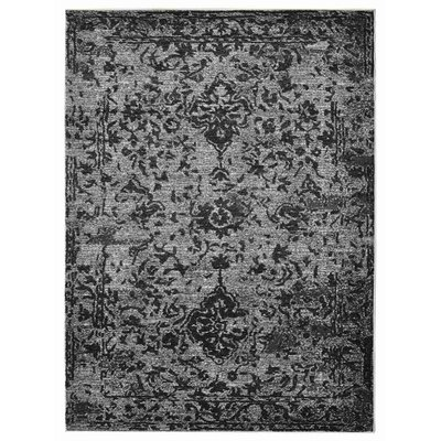Costales Silver/Black Area Rug Rug Size: Rectangle 10 x 13