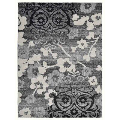 Tullos Silver/Gray Area Rug Rug Size: Rectangle 9 x 12