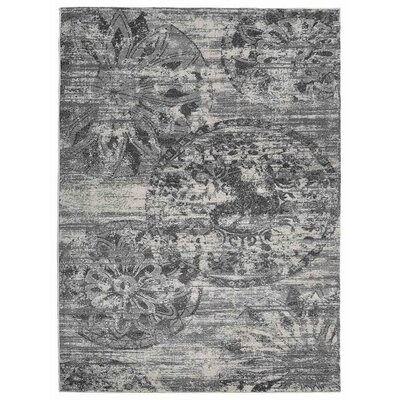 Hassen Silver/Gray Area Rug Rug Size: Rectangle 8 x 10