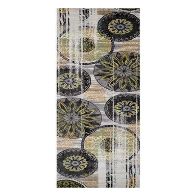 Hassen Black/Green Area Rug Rug Size: Runner 32 x 10
