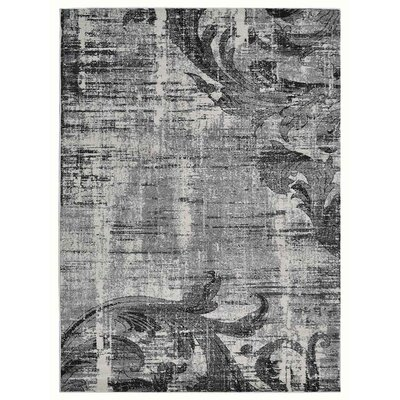 Tullos Silver/Gray Area Rug Rug Size: Rectangle 67 x 9