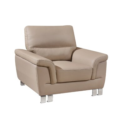 Hawker Upholstered Living Room Club Chair Upholstery: Beige