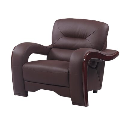 Hawkin Luxury Upholstered Living Room Club Chair Upholstery: Brown