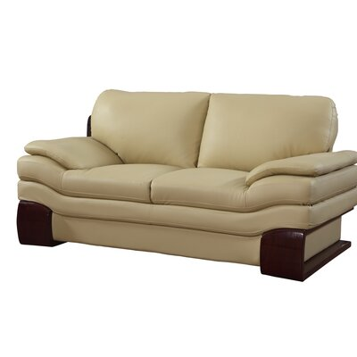 Hawthorn Luxury Upholstered Living Room Loveseat Upholstery: Beige