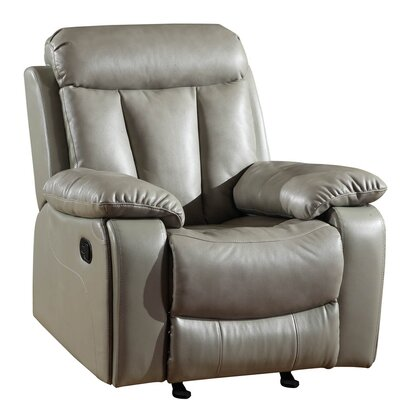 Trower Upholstered Living Room Manual Recliner Upholstery: Gray
