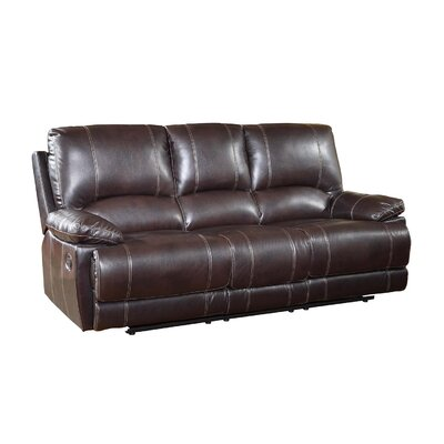 Trower Upholstered Living Room Recliner Reclining Sofa Upholstery: Brown