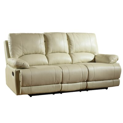 Trower Upholstered Living Room Recliner Reclining Sofa Upholstery: Beige
