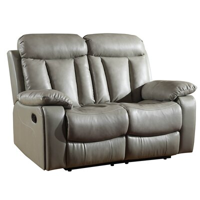 Ullery Upholstered Living Room Recliner Reclining Loveseat Upholstery: Gray
