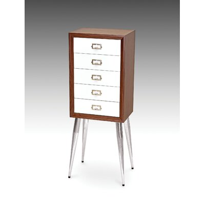 Wilkins Free Standing Jewelry Armoire Color: White