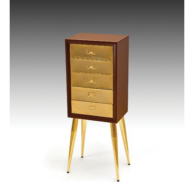 Wilkins Free Standing Jewelry Armoire Color: Gold