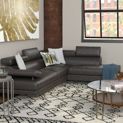 Armadale Sectional Upholstery: Black