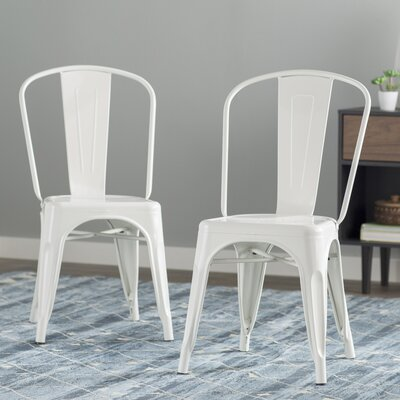 Louisa Dining Chair Color: White