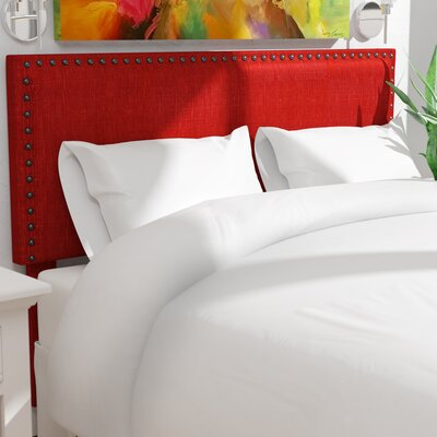 Antigua Upholstered Panel Headboard Upholstery: Red