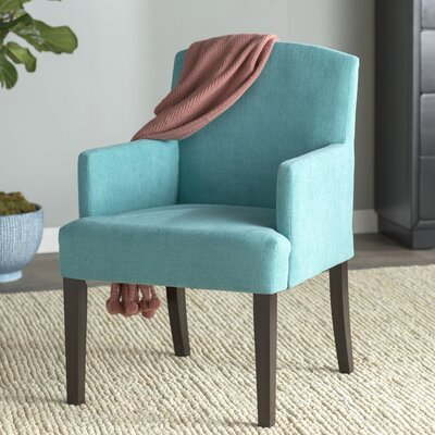 Macon Wood Frame Armchair Upholstery: Sky Blue