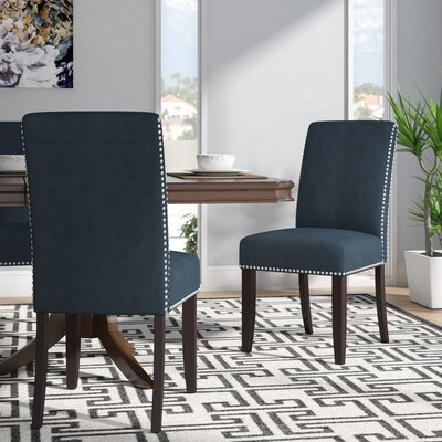 Willa Arlo Interiors Brucedale Parsons Chair Upholstery: Slate Blue