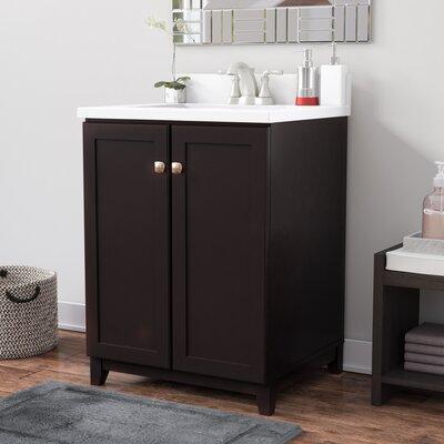Rosalynn 2-Door 25 Single Bathroom Vanity Base Finish: Espresso