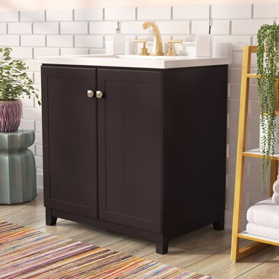 Rosalynn 2-Door 31 Single Bathroom Vanity Base Finish: Espresso