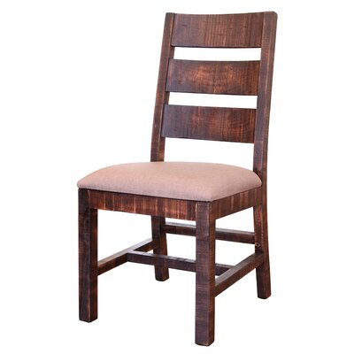Pueblo Solid Wood Dining Chair Upholstery Color: White, Frame Color: Black