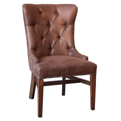 Zellers Upholstered Dining Chair with Tufted Back