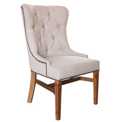 Hundt Upholstered Dining Chair with Tufted Back