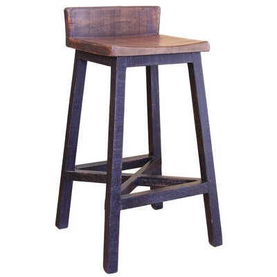 Pueblo 30 Bar Stool Color: Black