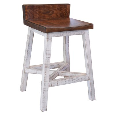 Pueblo 24 Bar Stool Color: White