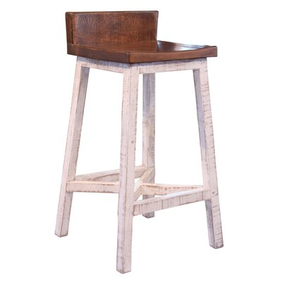 Pueblo 30 Bar Stool Color: White