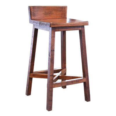 Pueblo 30 Bar Stool Color: Brown