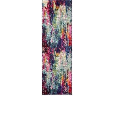 Darrick Blue/Red Area Rug Rug Size: Runner 22 x 67