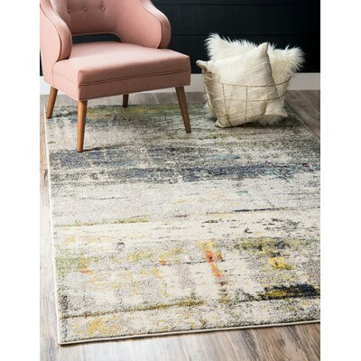 Darrick Gray Area Rug Rug Size: Rectangle 106 x 165