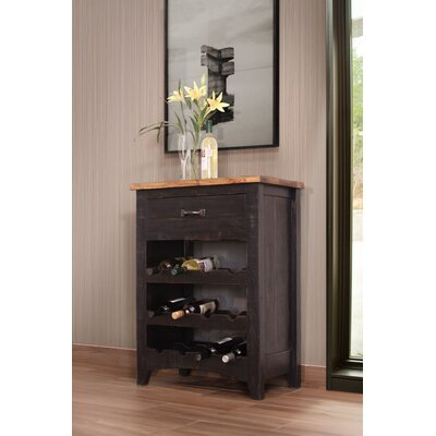 12 Bottle Floor Wine Rack Finish: Black