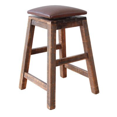Stogner Swivel Bar Stool Size: 24 H x 19 W x 19 D