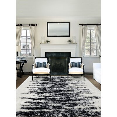 Dowdey Black/Cream Indoor Area Rug