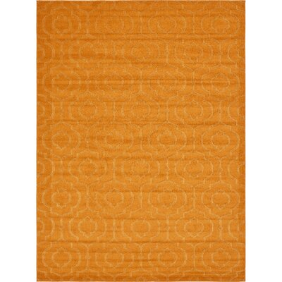 Mcreynolds Trellis Orange Area Rug Rug Size: Rectangle 9 x 12