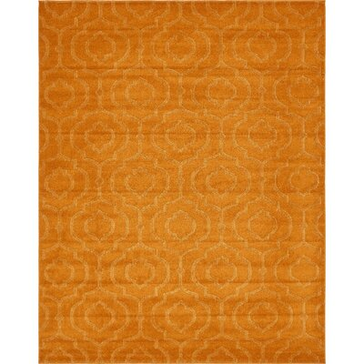 Mcreynolds Trellis Orange Area Rug Rug Size: Rectangle 8 x 10