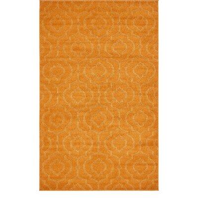 Mcreynolds Trellis Orange Area Rug Rug Size: Rectangle 5 x 8