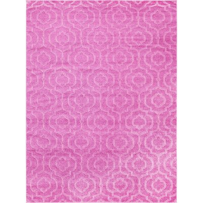 Mcreynolds Trellis Pink Area Rug Rug Size: Rectangle 9 x 12