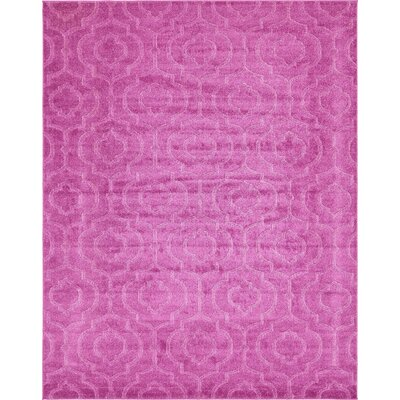 Mcreynolds Trellis Pink Area Rug Rug Size: Rectangle 8 x 10